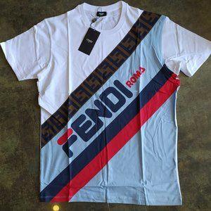 Fendi Casual T-shirt men's Short Sleeve NWT